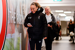 Ebony Salmon of Bristol City arrives at Stoke Gifford Stadium prior to kick off - Mandatory by-line: Ryan Hiscott/JMP - 17/02/2020 - FOOTBALL - Stoke Gifford Stadium - Bristol, England - Bristol City Women v Everton Women - Women's FA Cup fifth round