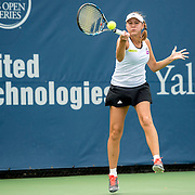 August 21, 2016, New Haven, Connecticut: <br /> Evgeniya Rodina of Russia in action during Day 3 of the 2016 Connecticut Open at the Yale University Tennis Center on Sunday, August  21, 2016 in New Haven, Connecticut. <br /> (Photo by Billie Weiss/Connecticut Open)