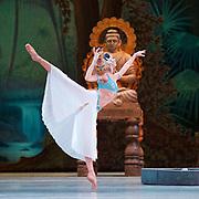La Bayadere <br /> The Mariinsky Ballet <br /> at The Royal Opera House, London, Great Britain <br /> Press photocall 10th August 2017 <br /> <br /> Viktoria Tereshkina as Nikiya<br /> <br /> <br /> <br /> <br /> <br /> Photograph by Elliott Franks <br /> Image licensed to Elliott Franks Photography Services