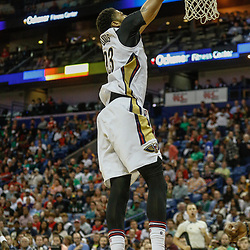 Mar 17, 2017; New Orleans, LA, USA; New Orleans Pelicans forward Anthony Davis (23) dunks against the Houston Rockets during the second half of a game at the Smoothie King Center. The Pelicans defeated the Rockets 128-112.  Mandatory Credit: Derick E. Hingle-USA TODAY Sports