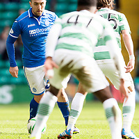 Celtic v St Johnstone....16.02.14   SPFL<br /> Lee Croft finds his route blocked by Stefan Johansen and Darnell Fisher<br /> Picture by Graeme Hart.<br /> Copyright Perthshire Picture Agency<br /> Tel: 01738 623350  Mobile: 07990 594431