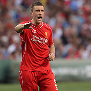 Ricki Lambert , Liverpool, in action during the Liverpool Vs AS Roma friendly pre season football match at Fenway Park, Boston. USA. 23rd July 2014. Photo Tim Clayton