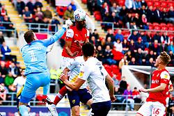 Michael Ihiekwe of Rotherham United heads at goal to put Rotherham United level - Mandatory by-line: Ryan Crockett/JMP - 19/10/2019 - FOOTBALL - Aesseal New York Stadium - Rotherham, England - Rotherham United v Oxford United - Sky Bet League One