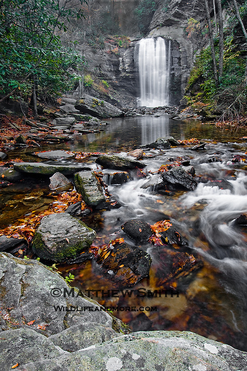 Looking Glass Falls in Pisgah National Forest NC