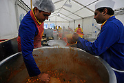 WATFORD HERTFORDSHIRE: Over 55,000 pilgrims and guests are fed for free as they visit the Largest Hindu Festival in Europe at Bhaktivedanta Manor Krishna Temple near Watford on Sunday 5th September to celebrate Janmashtami the birth of Lord Krishna. The Manor was donated to the Hare Krishna Movement in the early 1970s by former Beatle George Harrison. 03 SEPT 2010. STEPHEN SIMPSON ..