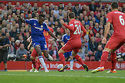 Bertrand Traoré (Chelsea) during the Barclays Premier League match between Liverpool and Chelsea at Anfield, Liverpool, England on 11 May 2016. Photo by Mark P Doherty.