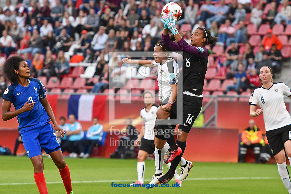 France goalkeeper Sarah Bouhaddi claims the ball during the UEFA Women's Euros 2017 match at Stadion Galgenwaard, Utrecht<br /> Picture by Kristian Kane/Focus Images Ltd +44 7814 482222<br /> 22/07/2017
