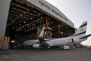 Israel, Ben-Gurion international Airport El Al Aircraft Maintenance Hangar