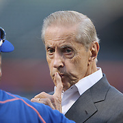 Fred Wilpon, majority owner of the New York Met, at batting practice before the New York Mets Vs Los Angeles Dodgers, game four of the NL Division Series at Citi Field, Queens, New York. USA. 13th October 2015. Photo Tim Clayton