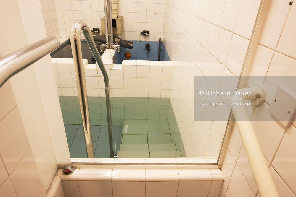 The Jewish faith Mikveh baths where recent converts to Judaism bathe in private, at the Sternberg Centre. London.