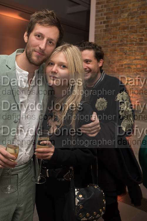 HENRY HUDSON; SOPHIE KENNEDY-CLARK; ADAM WAYMOUTH, Serpentine Gallery and Harrods host the Future Contempories Party 2016. Serpentine Sackler Gallery. London. 20 February 2016
