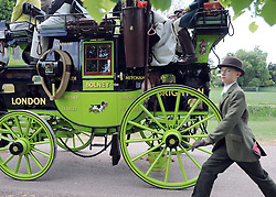 © under license to London News Pictures. WINDSOR, UK  13/05/2011.A young boy takes part in The Carriage Marathon. The Royal Windsor Horse Show in the grounds of Windsor Castle today (13 May 2011). Photo credit should read Stephen Simpson/LNP.