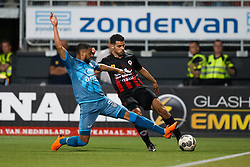 (L-R) Brandley Kuwas of Heracles Almelo,  Khalid Karami of Excelsior during the Dutch Eredivisie match between sbv Excelsior Rotterdam and Heracles Almelo at Van Donge & De Roo stadium on April 18, 2018 in Rotterdam, The Netherlands