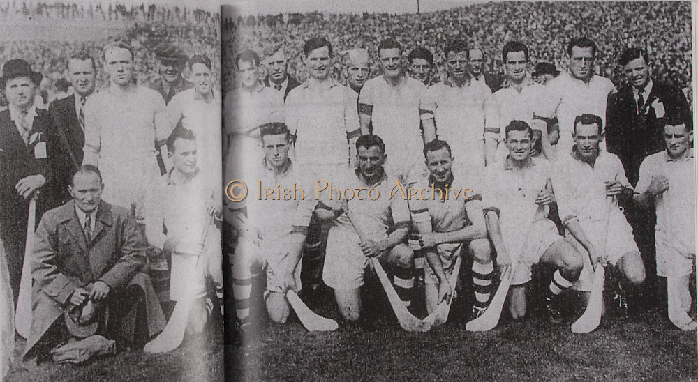 Waterford-All-Ireland Hurling Champions 1948. Back Row: Cullen (selector), M Foley (Selector), J Keane, C Ware ( Selector), E Daly, J Ware, K O'Brien, M Hayes, E Carew, T Curran, T Lannan (selector). Middle Row: D Goode ( Co Sec), J Goode, J Cusack, A Fleming, W Gavin, J O'Connor, V Bastion, C Moylan.