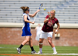 Virginia Tech Hokies M Allie Emala (22).  The #3 seeded Duke Blue Devils defeated the #6 seeded Virginia Tech Hokies 19-6 in the first round of the 2008 Women's ACC Lacrosse Tournament held at the University of Virginia's Scott Stadium in Charlottesville, VA on April 24, 2008.