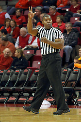 17 December 2014: Referee Winston Stith during an NCAA Men's Basketball game between the Skyhawks of University of Tennessee - Martin and the Redbirds of Illinois State at Redbird Arena in Normal Illinois