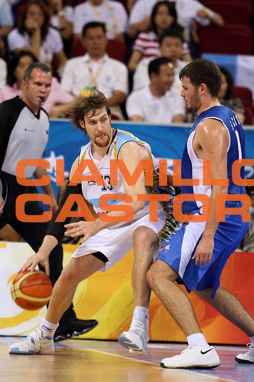 DESCRIZIONE : Beijing Pechino Olympic Games Olimpiadi 2008 Argentina Greece <br /> GIOCATORE : Andres NOCIONI <br /> SQUADRA : Argentina <br /> EVENTO : Olympic Games Olimpiadi 2008 <br /> GARA : Argentina Grecia Argentina Greece <br /> DATA : 20/08/2008 <br /> CATEGORIA : Palleggio <br /> SPORT : Pallacanestro <br /> AUTORE : Agenzia Ciamillo-Castoria/E.Castoria <br /> Galleria : Beijing Pechino Olympic Games Olimpiadi 2008 <br /> Fotonotizia : Beijing Pechino Olympic Games Olimpiadi 2008 Argentina Greece <br /> Predefinita :