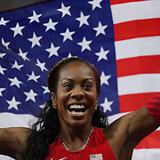 Sanya Richards-Ross, USA winning the Gold Medal in the Women's 400m Final at the Olympic Stadium, Olympic Park, Stratford at the London 2012 Olympic games. London, UK. 5th August 2012. Photo Tim Clayton