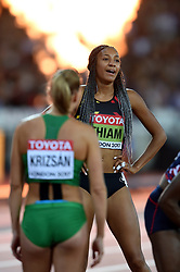 Nafissatou Thiam of Belgium looks on - Mandatory byline: Patrick Khachfe/JMP - 07966 386802 - 06/08/2017 - ATHLETICS - London Stadium - London, England - 800m Heptathlon - IAAF World Championships