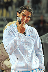 02.05.2010, Foro Italico, Rom, ITA, ATP Masters Turnier Rom, Rafael Nadal (ESP) vs David Ferrer (ESP), im Bild Rafael Nadal vince la finale/ wins single final.. EXPA Pictures © 2010, PhotoCredit: EXPA/ InsideFoto/ Antonietta Baldassarre / SPORTIDA PHOTO AGENCY