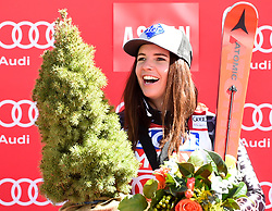16.03.2017, Aspen, USA, FIS Weltcup Ski Alpin, Finale 2017, SuperG, Damen, Siegerehrung, im Bild Tina Weirather (LIE, Siegerin welt Cup Super G Damen) // Winner of the Super G ladiesTina Weirather of Liechtenstein during the winner presentation for the ladie's Super-G of 2017 FIS ski alpine world cup finals. Aspen, United Staates on 2017/03/16. EXPA Pictures © 2017, PhotoCredit: EXPA/ Erich Spiess
