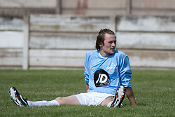 © Licensed to London News Pictures . 02/08/2015 . Droylsden Football Club , Manchester , UK . ELLIOTT TITTENSOR . Celebrity football match in aid of Once Upon a Smile and Debra , featuring teams of soap stars . Photo credit : Joel Goodman/LNP