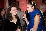 FRANCESCA CARRINGTON, PALOMA VAN TOL, Literary Review  40th anniversary party and Bad Sex Awards,  In & Out Club, 4 St James's Square. London. 2 December 2019