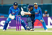 England ODI Captain & Batsman Eoin Morgan sweeps the ball during the 3rd Royal London ODI match between England and India at Headingley Stadium, Headingley, United Kingdom on 17 July 2018. Picture by Simon Davies.