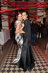 Left to right, AMBER LE BON and her mother YASMIN LE BON at the Tunnel of Love art and fashion auction and dinner in aid of the British Heart Foundation held at One Mayfair, London on 12th November 2013.