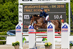 Frederick Charlotte, BEL, Electron du Houssoit<br /> Belgisch Kampioenschap - Azelhof 2019<br /> © Hippo Foto - Dirk Caremans<br /> Frederick Charlotte, BEL, Electron du Houssoit