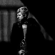 Portrait of Scottish Opera trombonist, Mike Buchanan