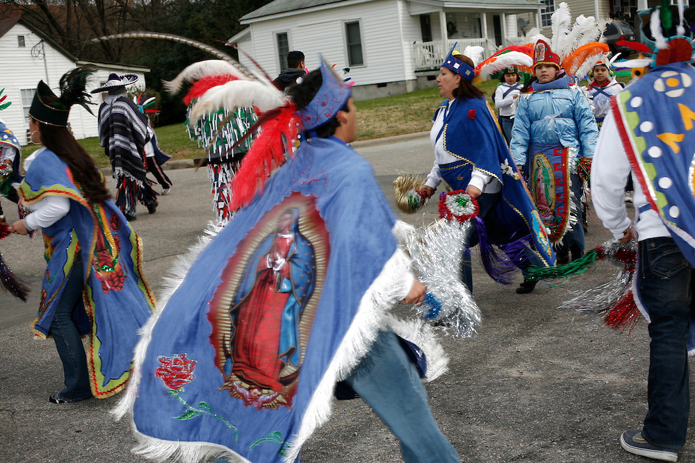Fiesta en honor a la Virgen De Guadalupe, Durham, Carolina Del Norte, Dec. 12, 2009. A festival for the Virgin of Guadalupe was held in Durham, North Carolina on December 12, 2009.