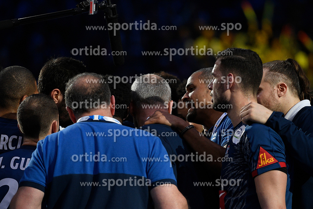 French team during 25th IHF men's world championship 2017 match between France and Slovenia at Accord hotel Arena on january 26 2017 in Paris. France. PHOTO: CHRISTOPHE SAIDI / SIPA / Sportida