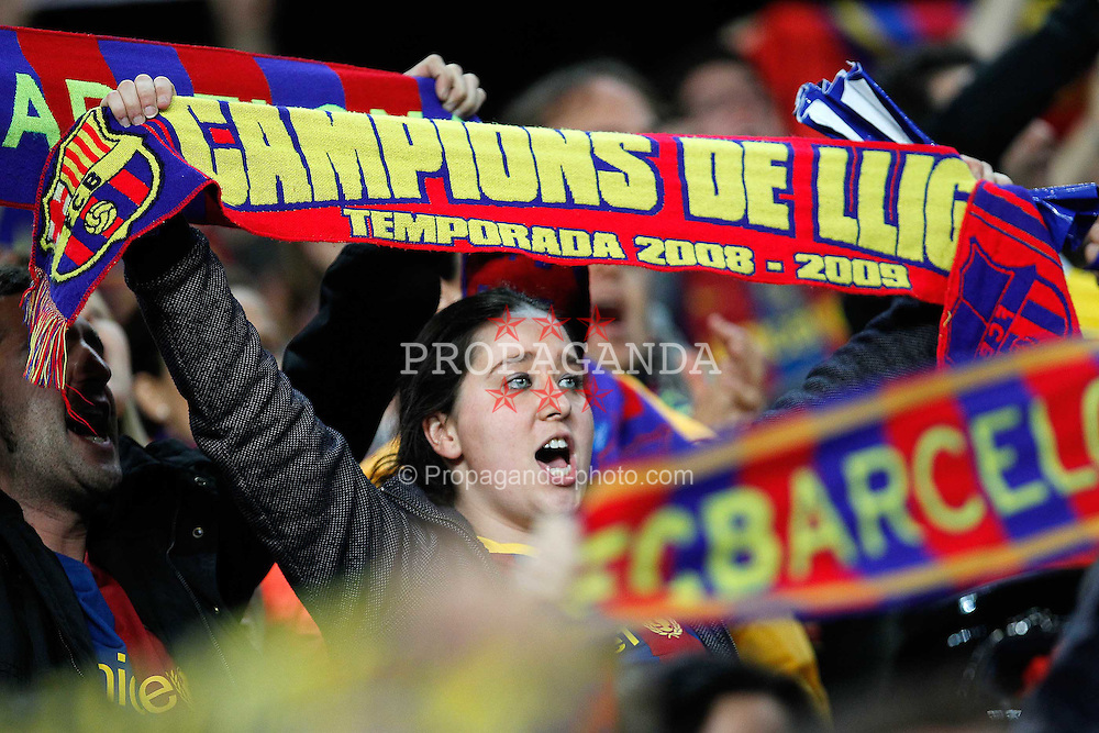 03.05.2011, Camp Nou, Barcelona, ESP, UEFA CL, Halbfinale Rueckspiel, FC Barcelona (ESP) vs Real Madrid (ESP), im Bild FC Barcelona's supporters during UEFA Champions League match.May 3,2011, EXPA Pictures © 2011, PhotoCredit: EXPA/ Alterphotos/ Acero