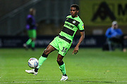 Forest Green Rovers Reece Brown(10) controls the ball during the EFL Sky Bet League 2 match between Cambridge United and Forest Green Rovers at the Cambs Glass Stadium, Cambridge, England on 2 October 2018.