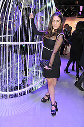 TALLULAH HARLECH at a reception to celebrate the launch of 'A Crystal Christmas'  - inspired by Swarovski and held at Harrods, Knightsbridge, London on 8th November 2011.  Following the reception a private dinner was held at One Hyde Park, Knightsbridge.