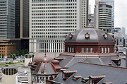 rooftop with dome of renovated Tokyo Station Japan