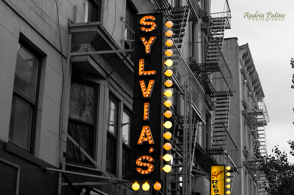 Sylvia's Soul Food Restaurant sign
