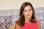 Queen Letizia of Spain attends Meeting of the Council of the Royal Board on Disability and delivery of the 'Queen Letizia 2018 Awards' at Corral de Comedias Theater on July 9, 2019 in Almagro, Spain