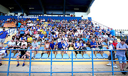 Bristol Rovers fans occupy half a stand at Estadio da Nora - Mandatory by-line: Robbie Stephenson/JMP - 18/07/2017 - FOOTBALL - Estadio da Nora - Albufeira,  - Hull City v Bristol Rovers - Pre-season friendly