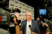 Bruce Hamilton, GM of the Kelowna Rockets speaks to media after announcing that the Kelowna Rockets Hockey Club will host the 2012 CHL/NHL Top Prospects Game on Wednesday, February 1, 2012 at Prospera Place in Kelowna, B.C.