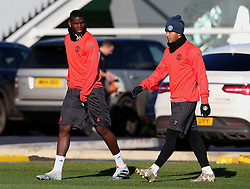 Paul Pogba and Memphis Depay of Manchester United walk out to train - Mandatory by-line: Matt McNulty/JMP - 19/10/2016 - FOOTBALL - Manchester United - Training session ahead of Europa League game against Fenerbahce