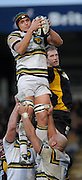 Wycombe, GREAT BRITAIN, Saints', Juandre KRUGER, collects the line out ball,  during the Guinness Premiership rugby game, London Wasps vs Northampton Saints, at Adam's Park Stadium, Bucks, England, on Sun 22.02.2009. [Photo, Peter Spurrier/Intersport-images]