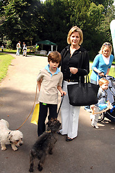 VISCOUNTESS LINLEY and her son CHARLES  at Macmillan Dog Day in aid of Macmillan Cancer Support, held at Royal Hospital Chelsea, London on 3rd July 2007.<br />