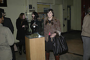 Francesca Amfiterof, Potential and Ground. 1 Chiltern St. London. 7 February 2007.  -DO NOT ARCHIVE-© Copyright Photograph by Dafydd Jones. 248 Clapham Rd. London SW9 0PZ. Tel 0207 820 0771. www.dafjones.com.