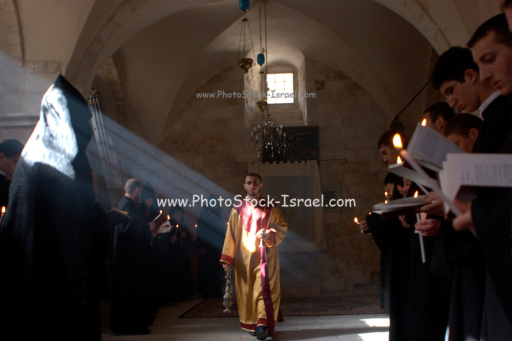 Israel, Jerusalem, The Armenian Church, Easter service April 24 2008