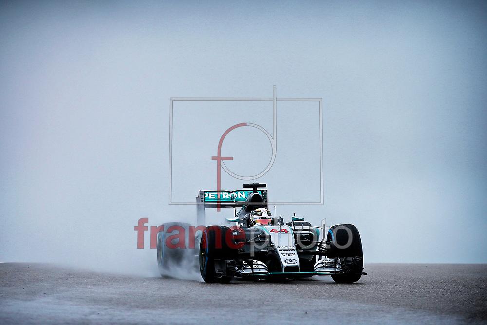 *BRAZIL ONLY* ATENÇÃO EDITOR, FOTO EMBARGADA PARA VEÍCULOS INTERNACIONAIS* O britânico Lewis Hamilton, da Mercedes, durante o Grande Prêmio dos Estados Unidos de Fórmula 1, em Austin, Texas, neste domingo. Hamilton venceu a prova, sagrando-se tricampeão mundial da categoria. Foto: DPPI/FramePhoto