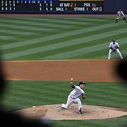 Masahiro Tanaka, New York Yankees, pitching during the New York Yankees V Tampa Bay Rays, Major League Baseball game at Yankee Stadium, The Bronx, New York. 3rd May 2014. Photo Tim Clayton