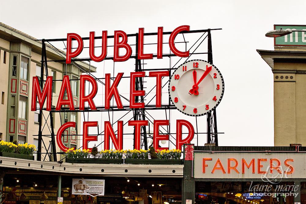 Seattle Public Market Center sign