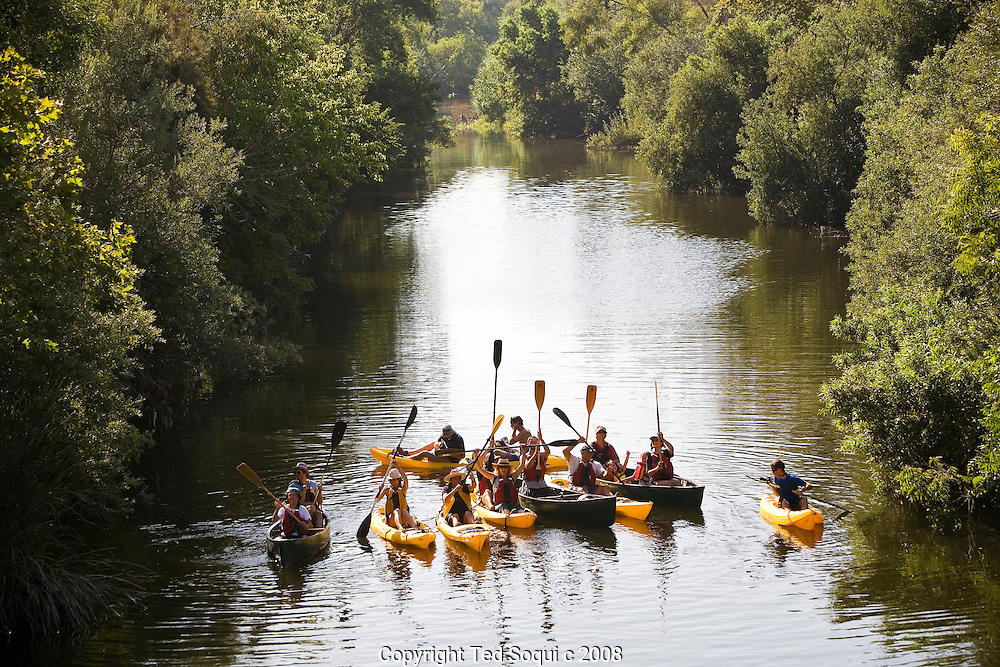 First day of the LA River expedition near Balboa Park. This area of the LA River has been completely restored to it's natural state.